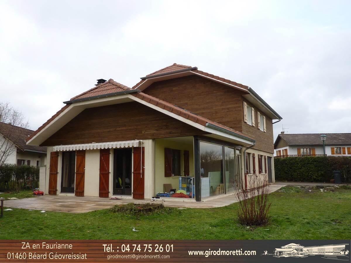 Girod moretti charpente couverture maison ossature bois dans l 39 ain - Surelevation de toiture ...